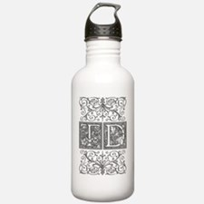 TD, initials, Water Bottle