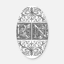 RN, initials, Oval Car Magnet