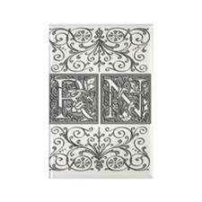 RN, initials, Rectangle Magnet