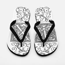 TX, initials, Flip Flops