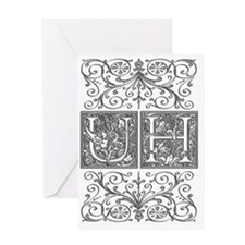 UH, initials, Greeting Card