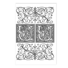 UU, initials, Postcards (Package of 8)
