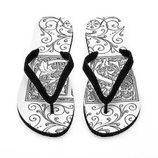 SD, initials, Flip Flops