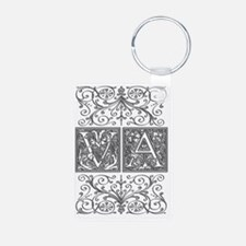 VA, initials, Keychains