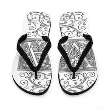 VA, initials, Flip Flops