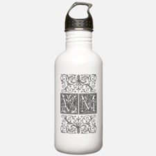 VM, initials, Water Bottle