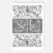 SU, initials, Postcards (Package of 8)