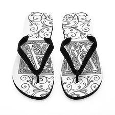 WA, initials, Flip Flops