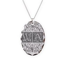 WA, initials, Necklace