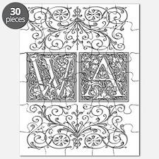 WA, initials, Puzzle