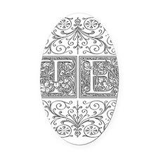 TE, initials, Oval Car Magnet