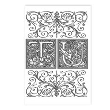 TU, initials, Postcards (Package of 8)