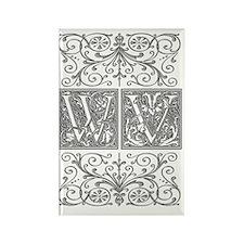 WV, initials, Rectangle Magnet