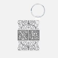 XL, initials, Keychains