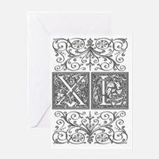 XL, initials, Greeting Card