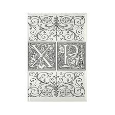 XP, initials, Rectangle Magnet