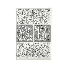 VP, initials, Rectangle Magnet