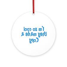 TwinBaby Copy Flipside Ornament (Round)