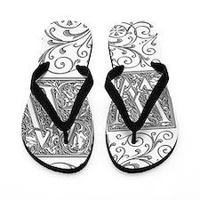 WI, initials, Flip Flops