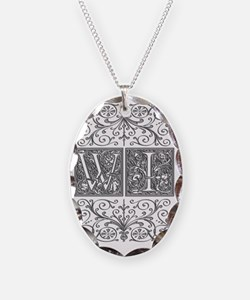 WI, initials, Necklace