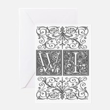 WI, initials, Greeting Card
