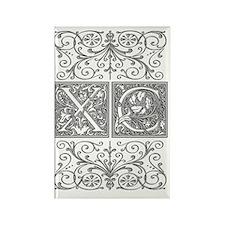 XC, initials, Rectangle Magnet
