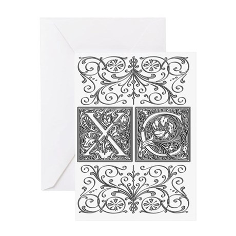 XC, initials, Greeting Card