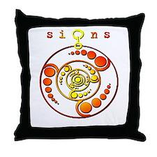 Crop Circle #9 Orange Throw Pillow