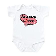 jaxson loves me  Infant Bodysuit