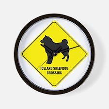 Sheepdog Crossing Wall Clock