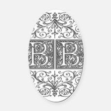 BB, initials, Oval Car Magnet