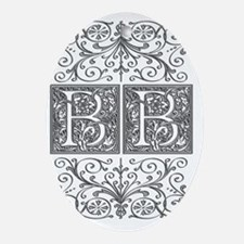 BB, initials, Oval Ornament