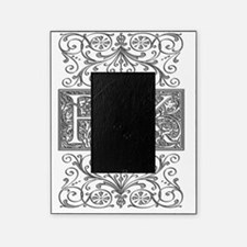 BK, initials, Picture Frame