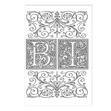 BI, initials, Postcards (Package of 8)