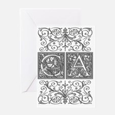 CA, initials, Greeting Card