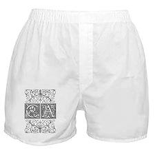 CA, initials, Boxer Shorts