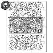 CA, initials, Puzzle