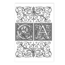 CA, initials, Postcards (Package of 8)