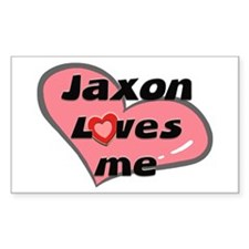 jaxon loves me Rectangle Decal