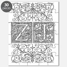 ZJ, initials, Puzzle