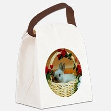 Basket Bunny Canvas Lunch Bag