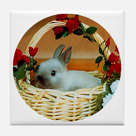 Basket Bunny Tile Coaster