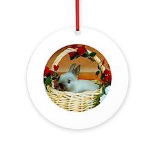 Basket Bunny Round Ornament