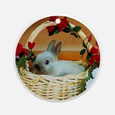 Basket Bunny Round Ornament