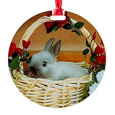 Basket Bunny Ornament