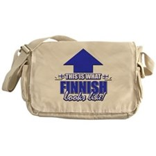 This is what Finnish Looks Like Messenger Bag