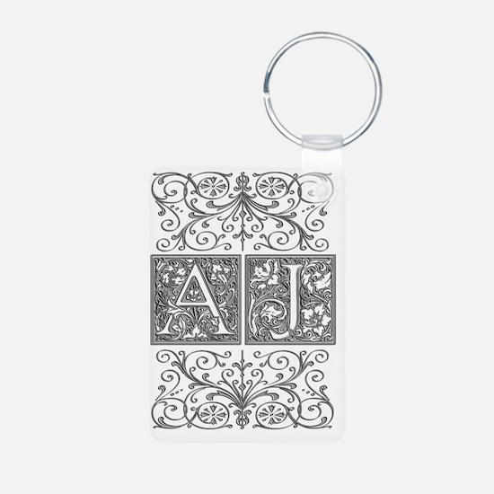 AJ, initials, Keychains