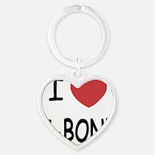 I heart T-BONE Heart Keychain