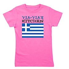 Yia-Yias Kitchen apron Girl's Tee