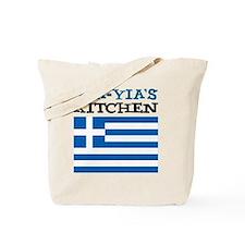 Yia-Yias Kitchen apron Tote Bag